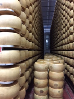 Parmesan ages for up to 3 years.